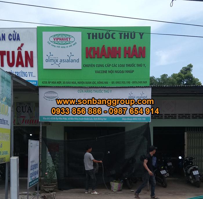 mẫu bảng hiệu cửa hàng alu